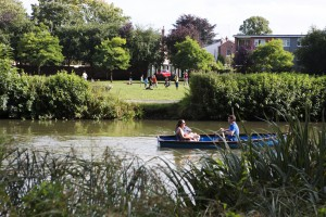 River Leam in Jephson Gardens